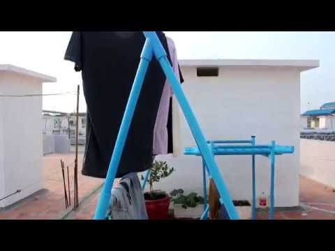 Diy Life Hacks Craft | How to make a Cloths drying Stand by PVC Pipe
