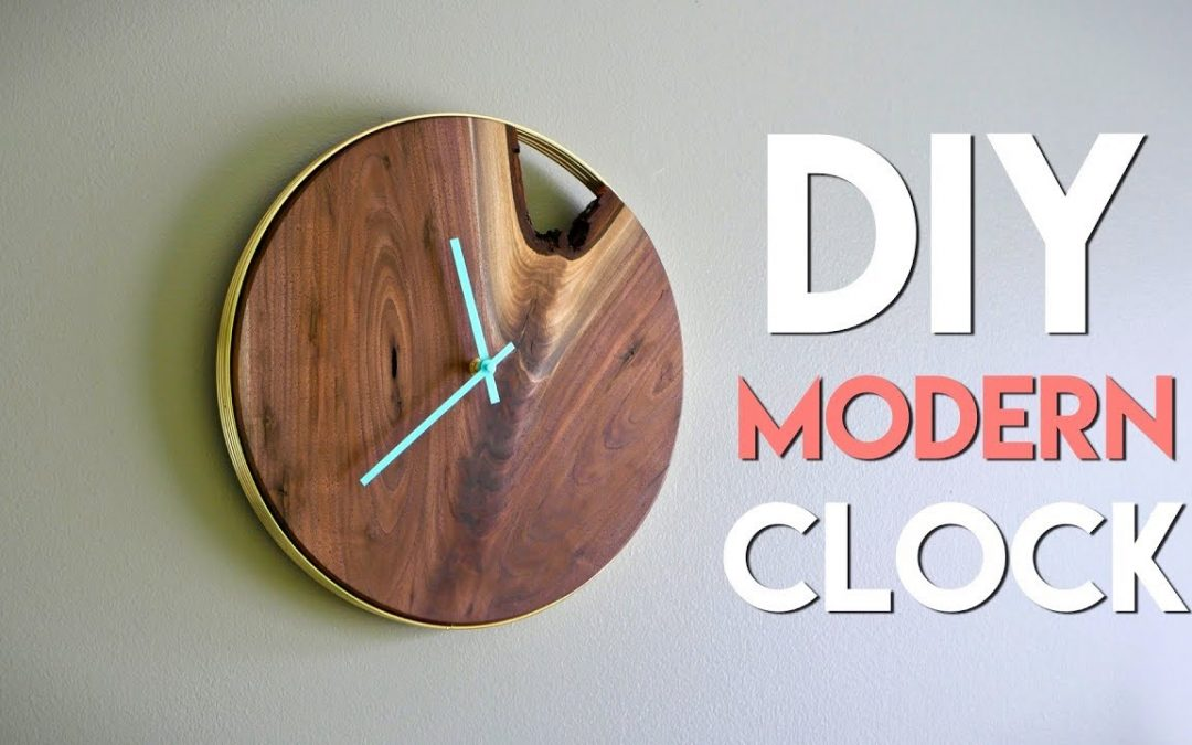 DIY Modern Live Edge Wall Clock // How To – Woodworking