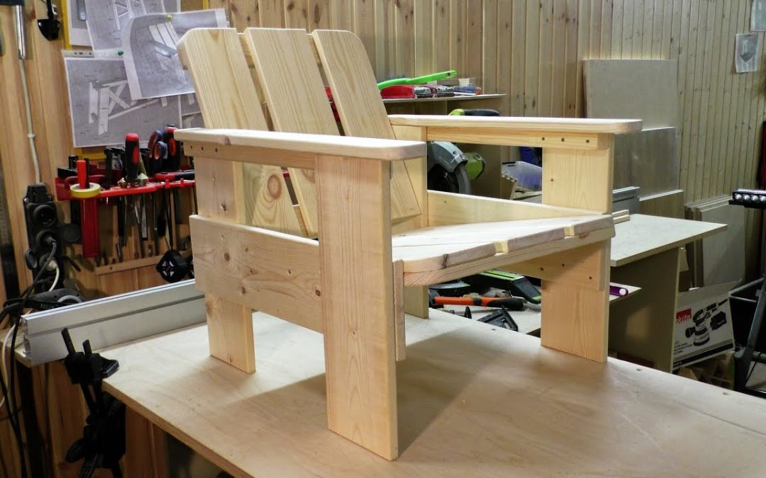 DIY pallet chair – woodworking for beginners. Pallet furniture
