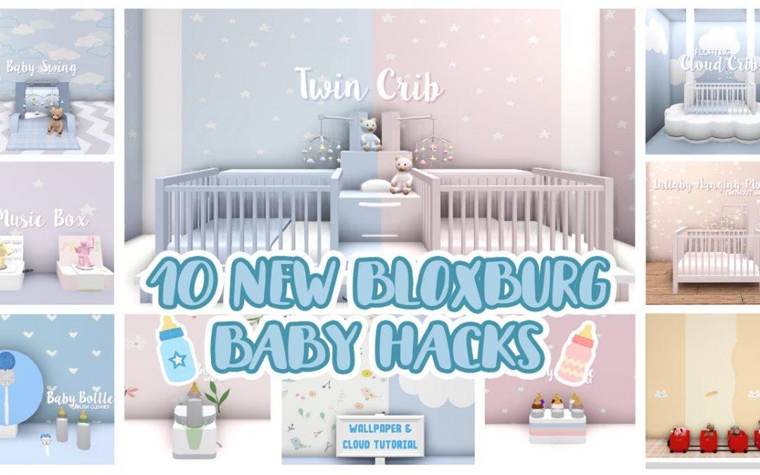 Bloxburg : 10 New Baby Hacks | Tips & Designs | Update 0.9.0