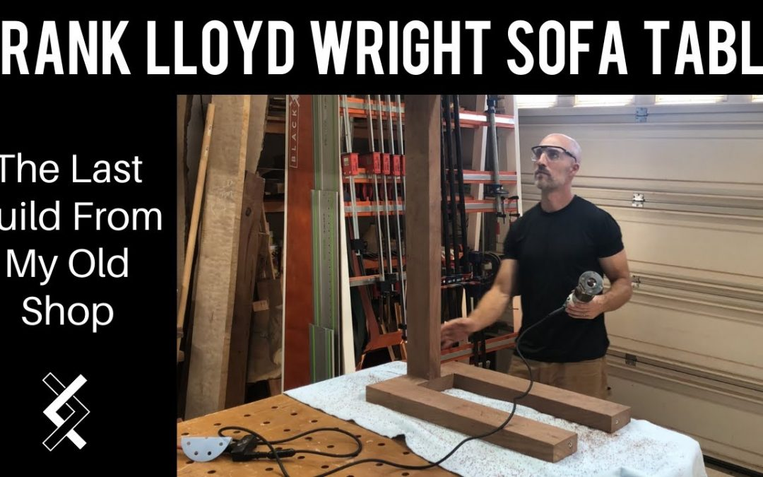 Frank Lloyd Wright Inspired Sofa Table – Woodworking Projects – How To Woodworking