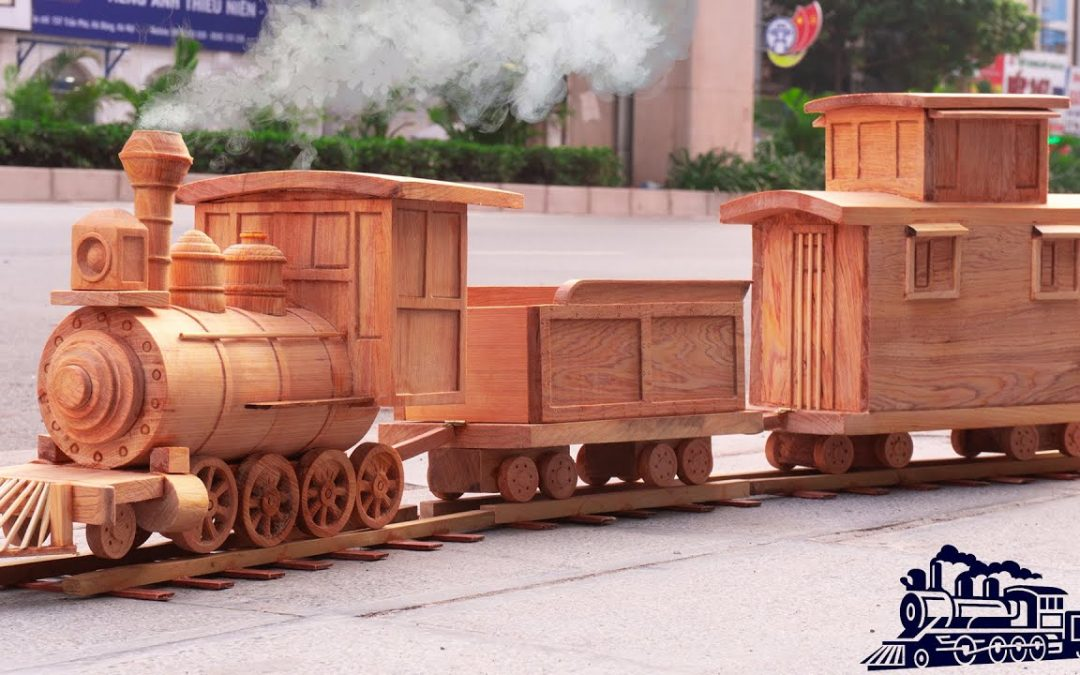 Wood Carving – DIY Amazing Steam Train Wooden – Amazing Woodworking Project | Wood World